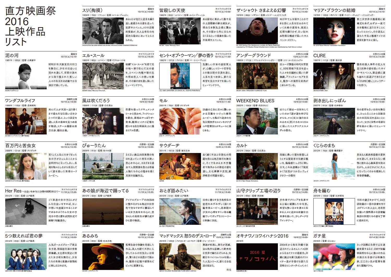 直方映画祭2016上映作品リスト